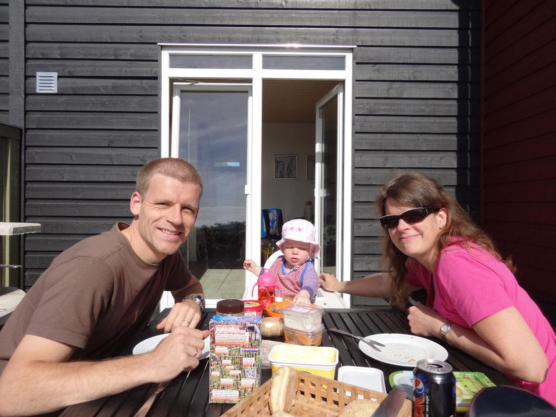 eten in de zon