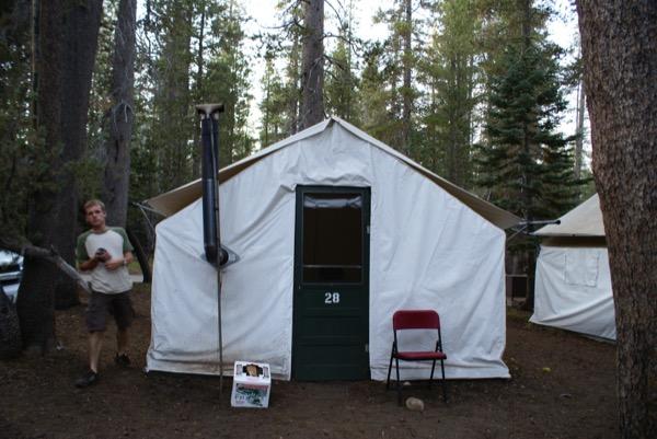 Onze tent...